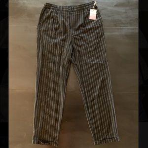 Black Pinstriped Pants